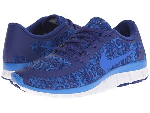Nike Free 5.0 V4 Deep Royal Blue/White/Soar - Zappos.com Free