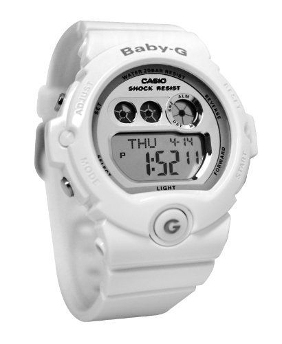 Casio Ladies' White Baby-G Watch BG6900-7 Casio. Save 45 Off!. $71.50. Chronograph. Alarm. 200 Metres Water Resistance