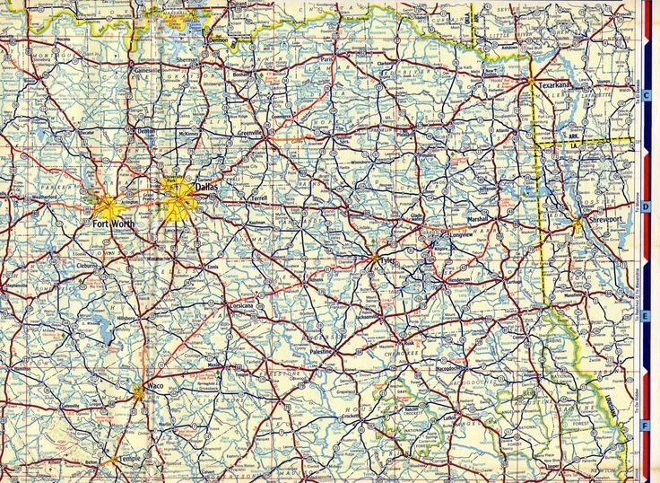 1954 Chevron North Texas Road Map Maps Pinterest