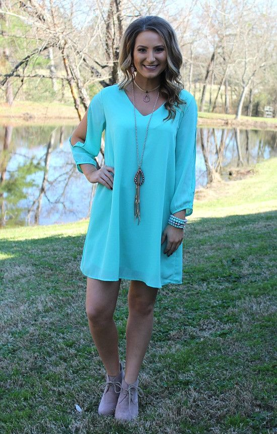 The Whole Package Solid Dress in Mint – Giddy Up Glamour Boutique