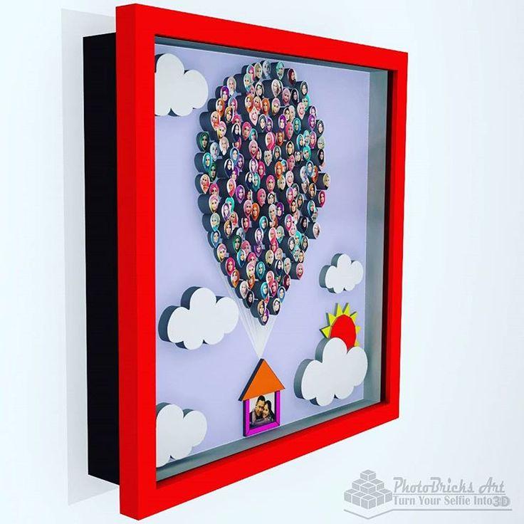 BallonHouse model (side view). Size 30x30 cm. Wanna purchase? Check our bio for more info. #interior #walldecor #decoration #interiordesign #creativeindustry #craft #art #gift #creative #creativeart #desainunik #desainkreatif #creativedesign...