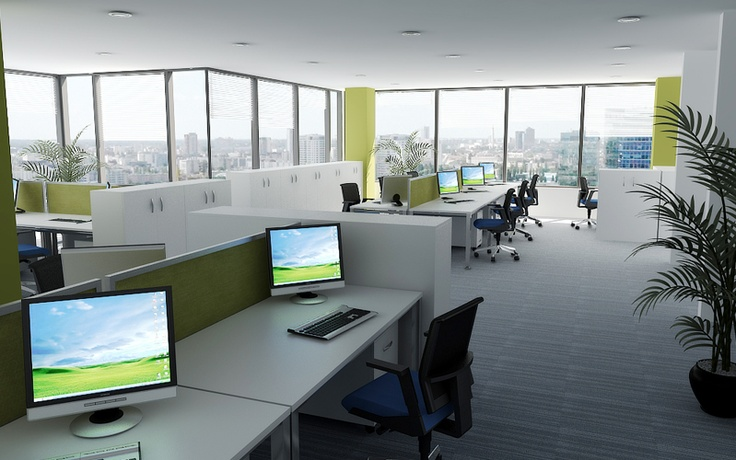 3D office spaceplan