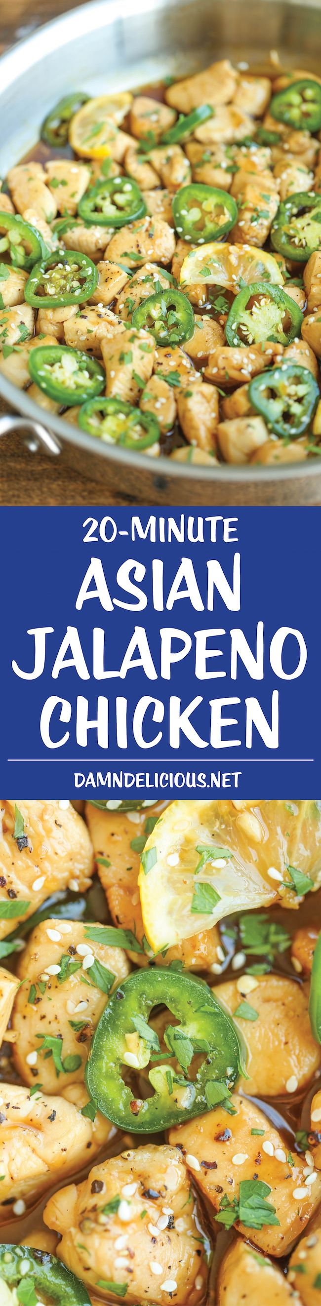 Asian Jalapeno Chicken - Sweet and savory perfection in this quick and easy 20 min meal from start to finish. Better than take-out and so much healthier!