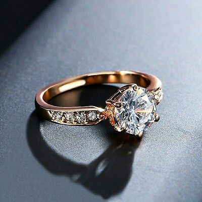 Wholesale 1.75ct AAA Zircon Engagement Ring Gold Plated Austrian Crystal SALE