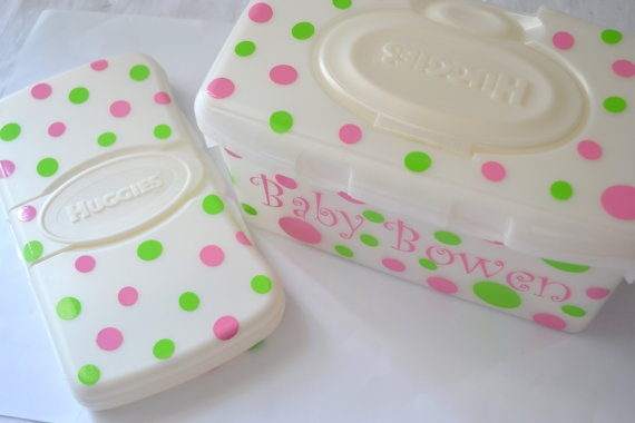 Baby Showers Sheffield ~ Personalized wipe case set perfect baby shower gift