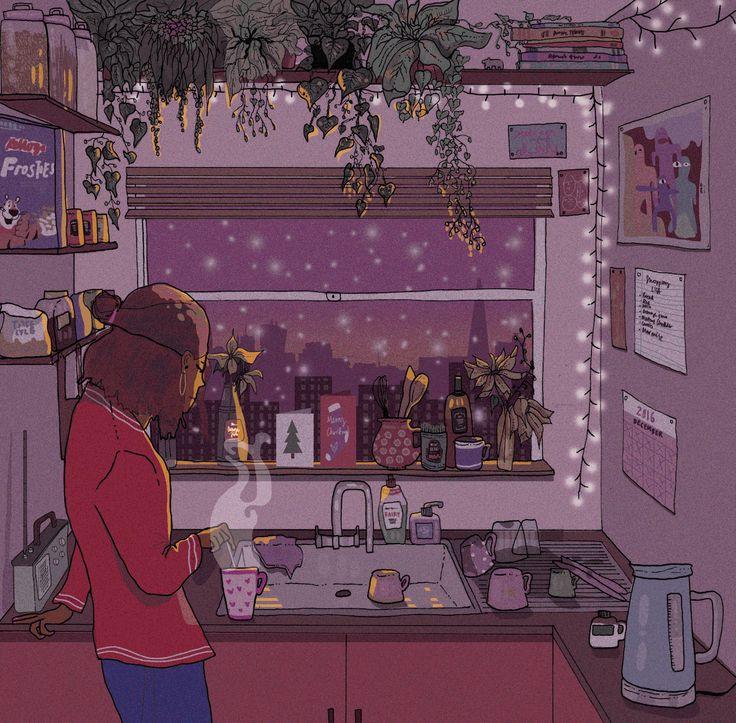 "eatsleepdraw: "" Last Days of December By Serina Kitazono Tumblr Instagram """