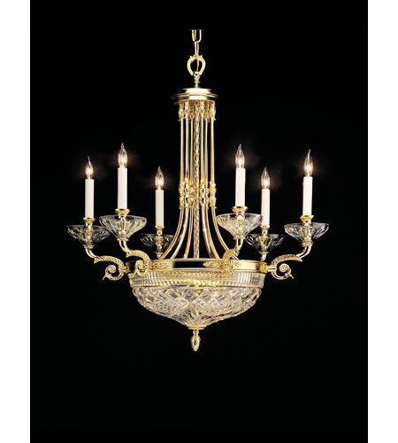 Waterford Crystal Gold Plated Beaumont Chandelier 849-285-28-00