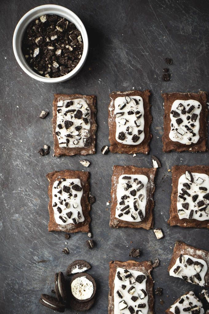 Cookies and Cream Chocolate Pop-Tarts