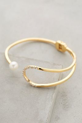 Gold Philosophy Pearl Eclipse Cuff #anthroregistry