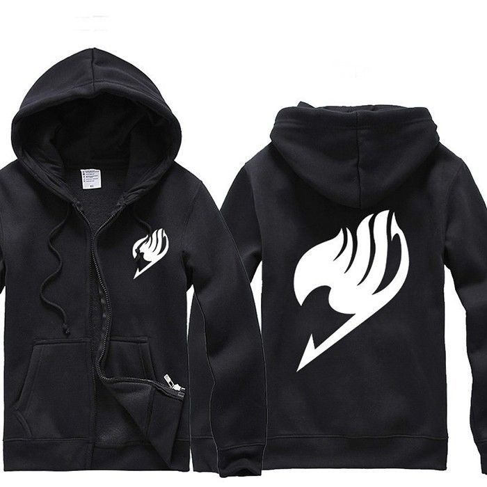 New Anime Fairy Tail Clothes Costumes Guild Mark Hooded Sweater Cosplay Hoodie