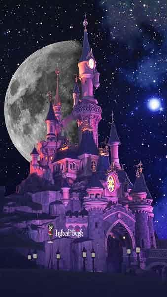 Un fond d'écran féerique du château de Disney que j'ai préparé pour embellir vos spartphones