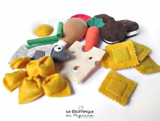 cibo giocattolo in pannolenci (26 pz.) gioco pannolenci,colla a caldo,stoffa cucito