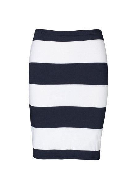 VIKTORIA & WOODS - Venus Tube Skirt - Navy - White - Stripe  $110.00