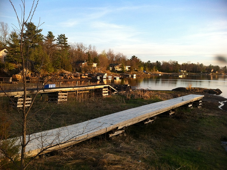 Macey Bay Spring 2013 - Docks are higher and dryer than last Fall