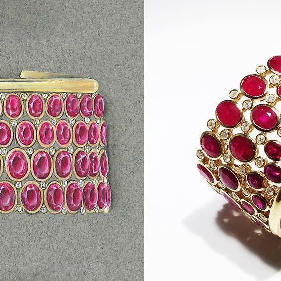 From dream to reality !#florencejewellery #florencejewels #customdesign #custommade #madeinflorence #handdrawn #handmade#brainstorm #rubies#ruby #instajewelry #instajewellery #cuff #bracelet #unique #diamonds #bezel #gold #madeinitaly🇮🇹#kathalinepageguth