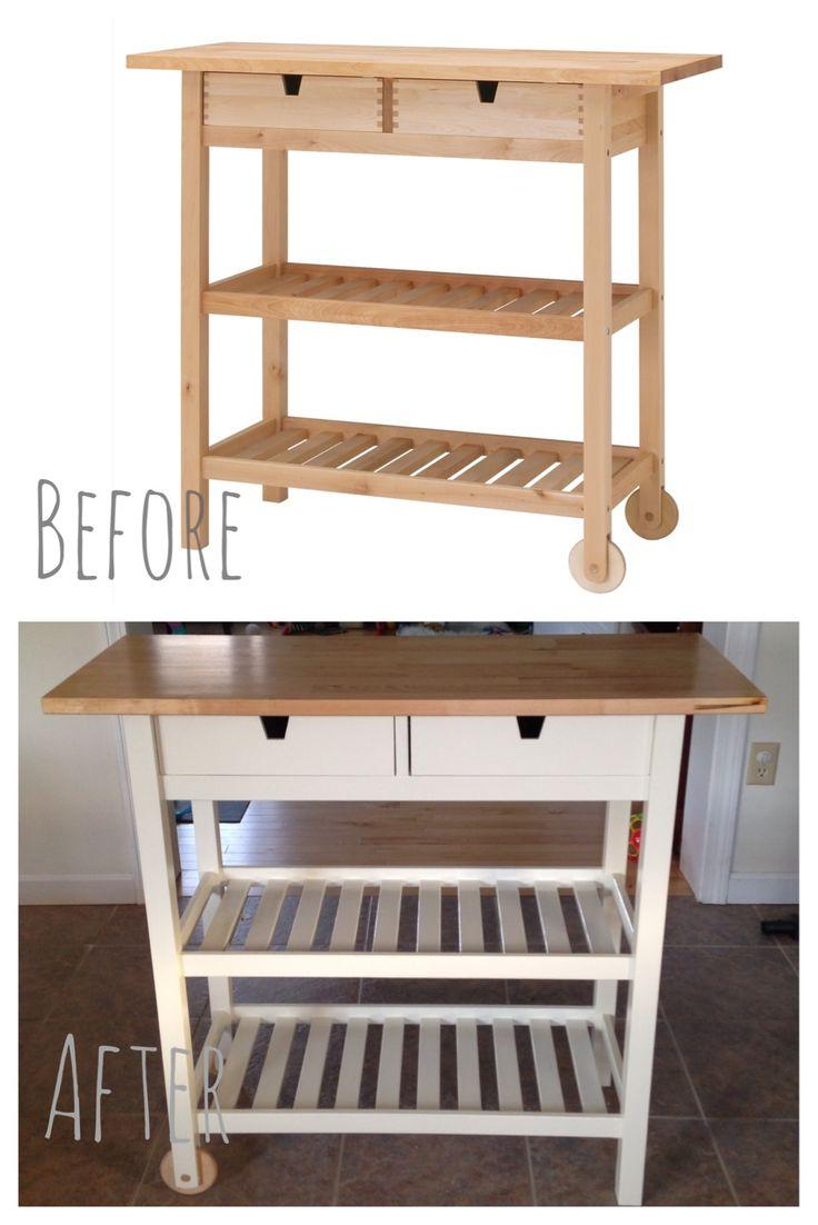 I customized this. IKEA FRHJA Kitchen cart and custom ...