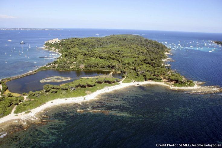 île Ste-Marguerite étang bateguier Cannes Cote d' Azur
