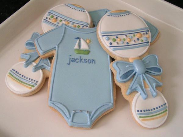 baby boy cookies baby shower cookies cute cookies onesie cookies sweet
