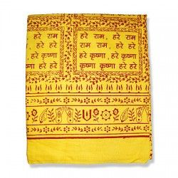 Hare Rama Hare Krishna shawl - Orange