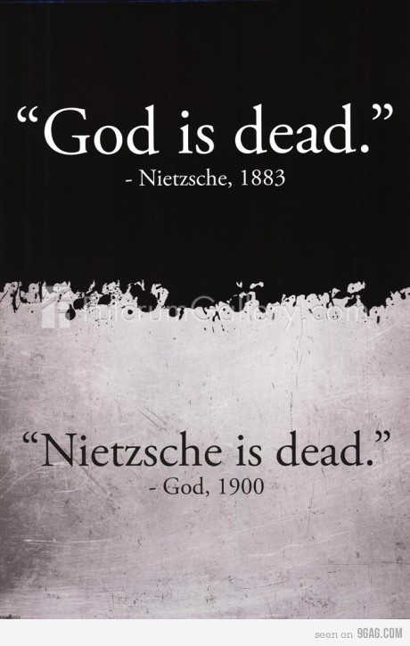 A man's morality tends to dictate his philosophy ... what an interesting professor he would make at UCLA if he could only come back and teach the youth of America today.  Standing Room Only Classes - I betcha!  But - Nietzche is dead!  Only his hellish words live on ... embraced by his short lived protégés and protégées.