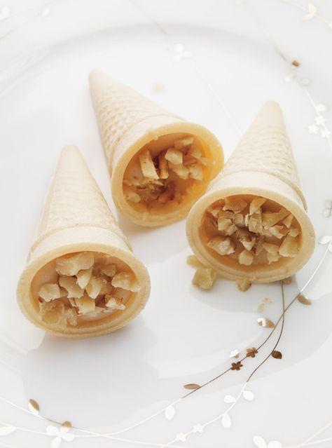Mini-cornets au sucre à la crème Recettes | Ricardo