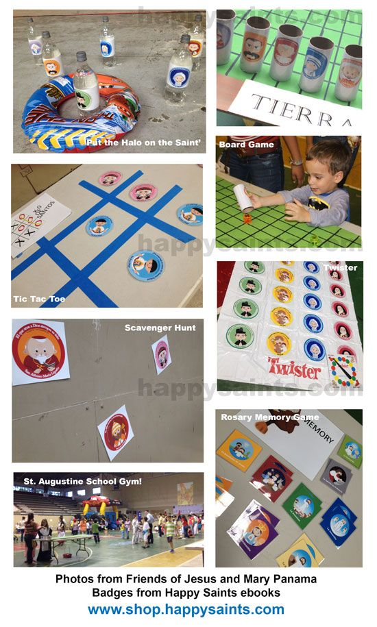 So many adorable All Saints' Day game ideas! :-)