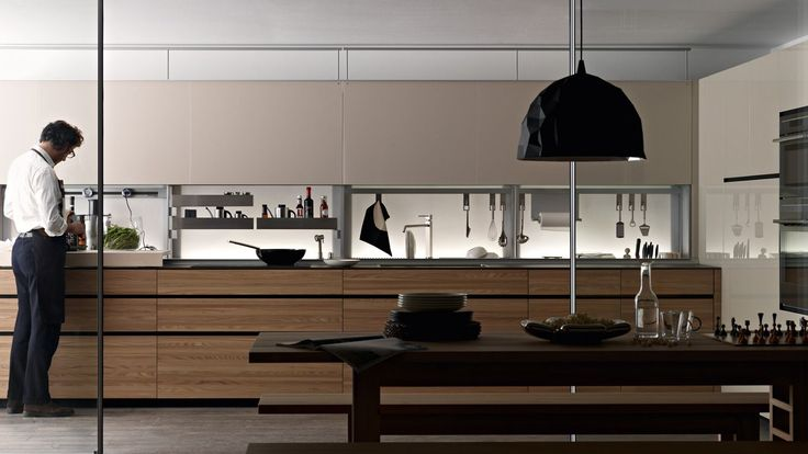Artematica Olmo Tattile with New Logica System back section #interior #kitchen #cabinets #design #sustainability