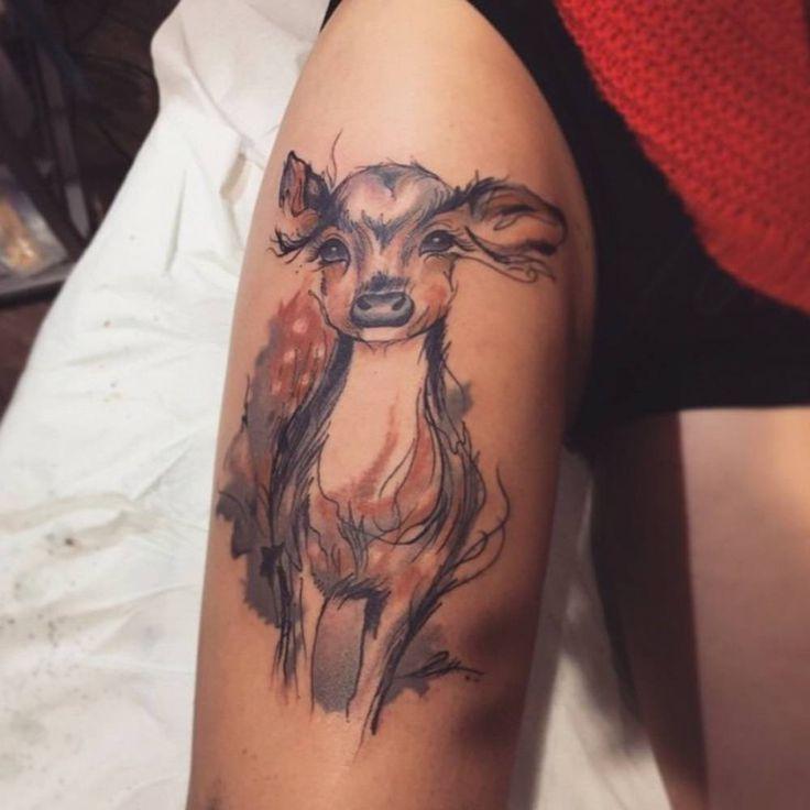 Best Animal Tattoos Images On Pinterest Animal Tattoos - Polish artist creates elegant animal tattoos finished in vibrant colours