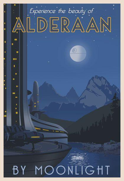 "Star Wars ""vintage"" poster illustrations by Steve Thomas"