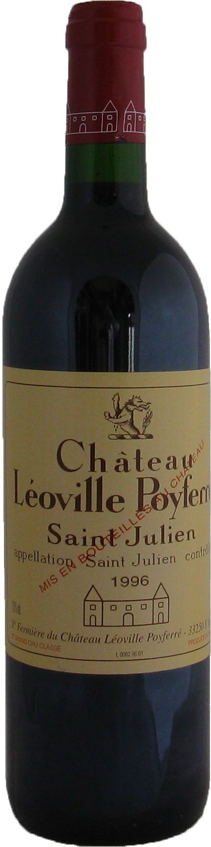 Chateau Leoville Poyferre 2eme Cru St Julien, 1996