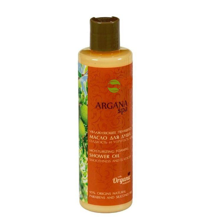 ECOLAB - ARGAN SPA - Nawilżający Pieniący Się Olejek Pod Prysznic - Gładkość I Elastyczność Skóry, 250ml, zawiera 95% składników pochodzenia roślinnego