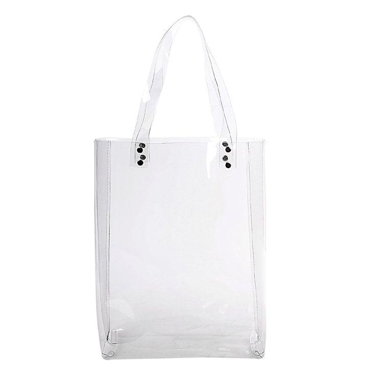 zarapack Sac de courses Sac à langer grand sac en PVC transparent pour femme: Amazon.fr: Chaussures et Sacs