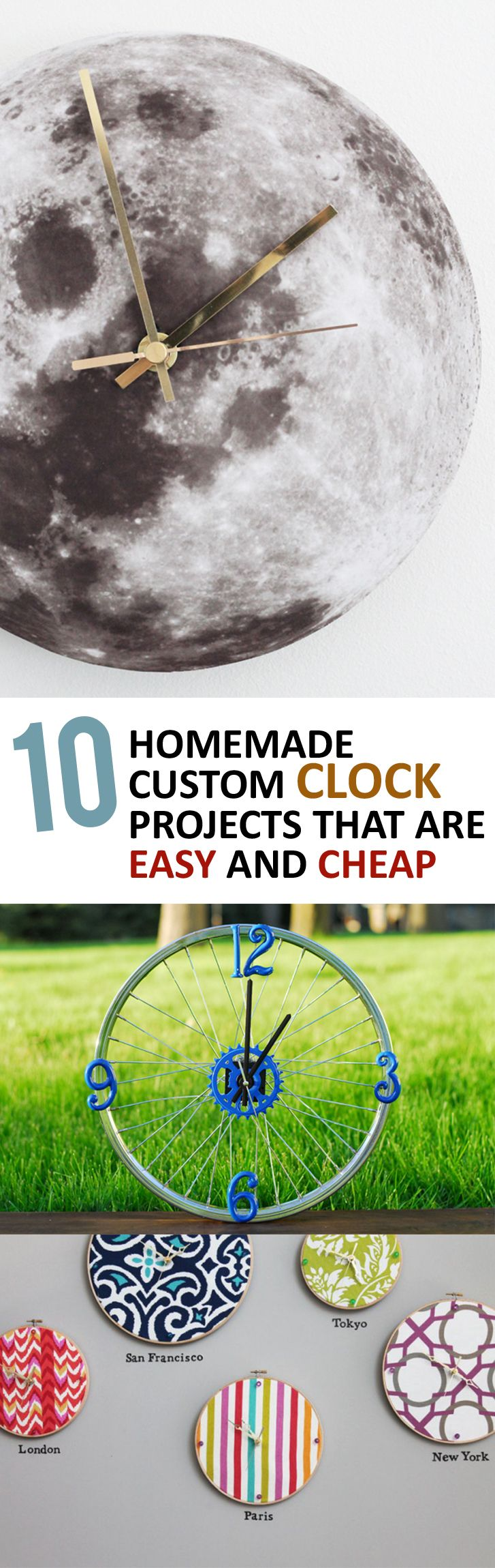 10 Homemade Custom Clock Projects that Are Easy and Cheap