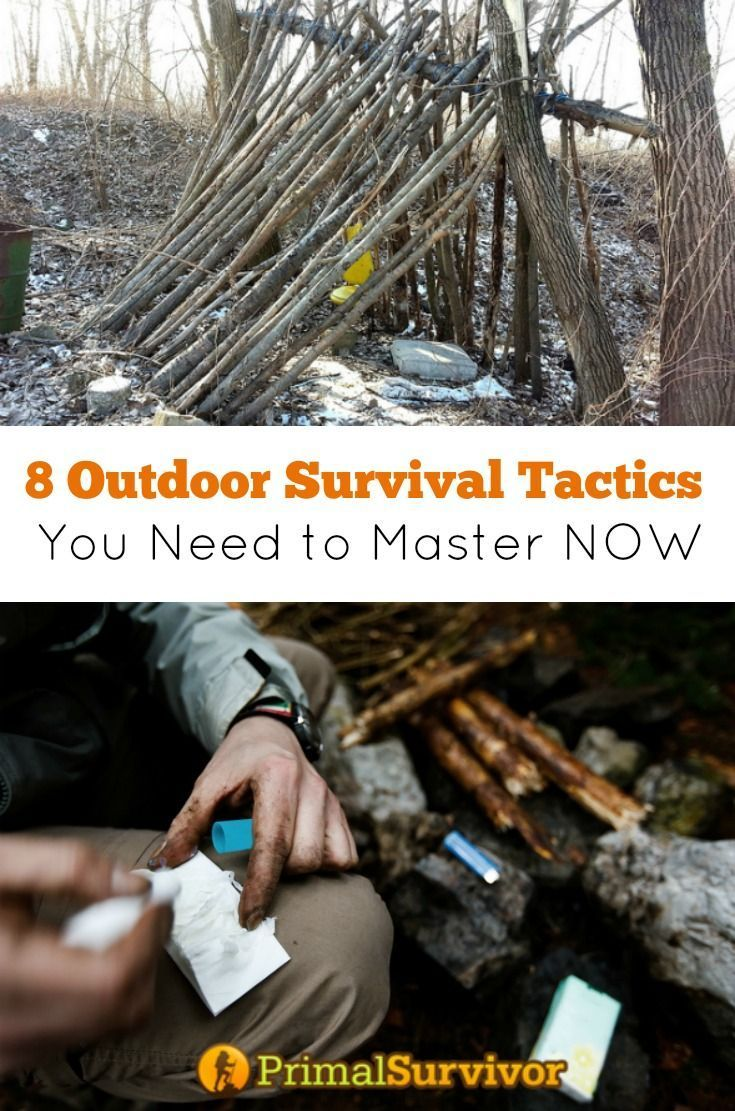 8 Outdoor Survival Tactics You Need to Master NOW. Think you know how to survive in the wilderness? Sorry to break it to you, but going camping or hunting a few times, or getting some badges in the Boy Scouts doesn't mean you are ready to SURVIVE. Here are the 8 outdoor survival tactics you need to master now if you want to come out alive.