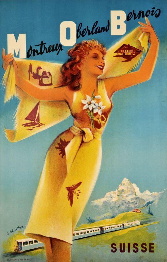 Montreux Oberland Bernois - Galerie 123 - Original Vintage Posters