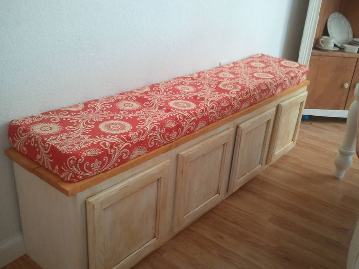 bench seating from kitchen cabinets