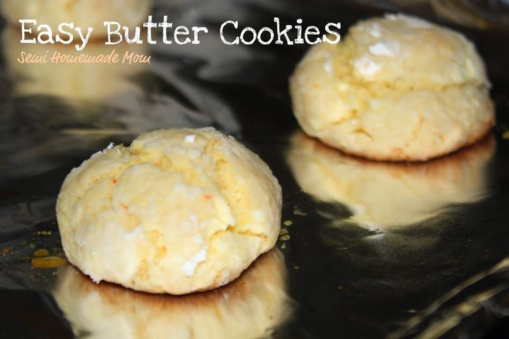 Mostly Homemade Mom: Easy Butter Cookies