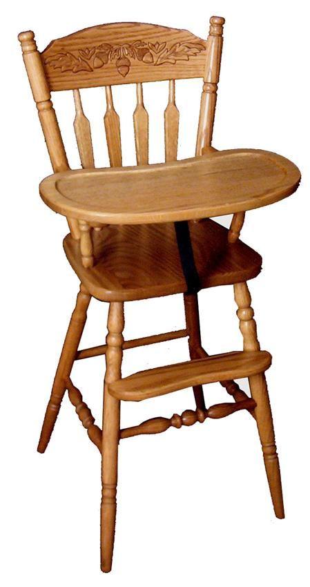 amish little acorn wooden high chair