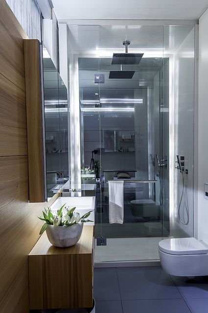 Sleek Tiny Bathroom