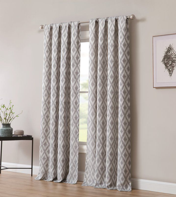 Bedelia Solid Room Darkening Thermal Rod Pocket Curtain Panels