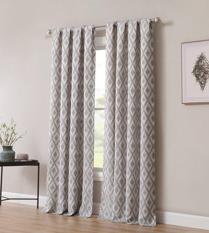 Bedelia Solid Room Darkening Thermal Rod Pocket Curtain Panels
