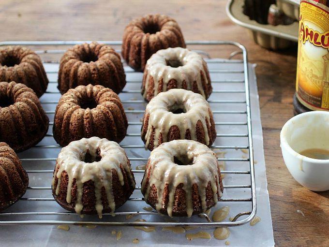 Chocolate Kahlua Mini Bundt Cakes