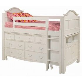 Emma Twin Loft with Storage Options ♥ Discover the season's newest designs and inspirations by Rosenberry. | Visit us at http://kidsbedroomideas.eu/ #furnituredesign #kidbedroom #kidsroom #kidfriendly #bedroomdecor