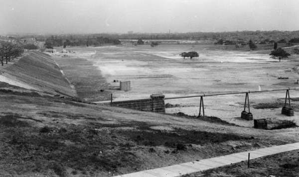 Queens Park in 1938 looking west towards Centennial Park. The sports fields were starting to take shape.