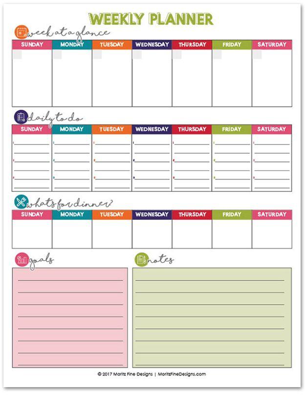 As 25 melhores ideias de Week planner no Pinterest Planeador - free printable weekly planner