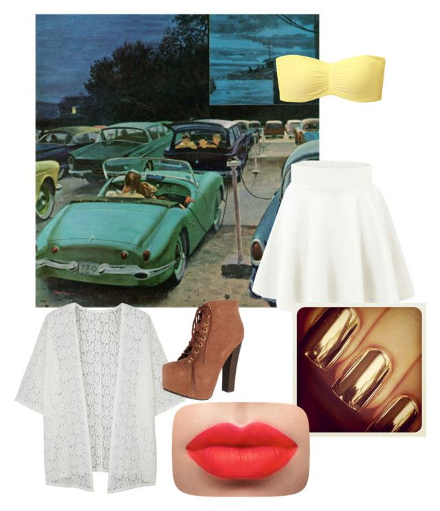 """""""Going to an old movie drive in"""" by nbrmacdonald ❤ liked on Polyvore featuring Uniqlo and Breckelle's"""