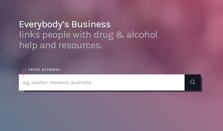 Find Alcohol and Other Drug resources, services, information, articles, videos, and must more. Everybody's Business is a library portal curated by the Drug Education Network.