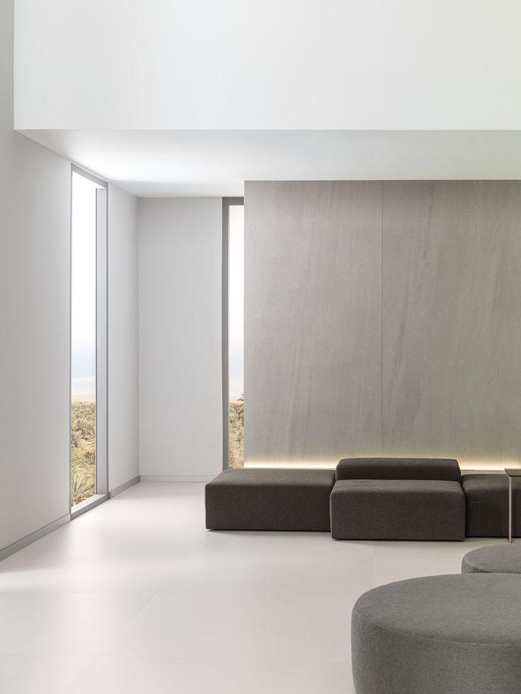 XLIGHT Premium Aged Clay  - #URBATEK #PORCELANOSA - Gres porcelánico de fino espesor #precious #stones #marble #porcelain #tile #porcelaintiles #floors #ceramics #design #architecture #sand #grey #beige #contract #floors #ceramics #design #architecture #interiors #minimalism #lines