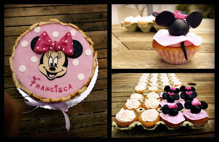Minnie mouse cake and cupcakes <3