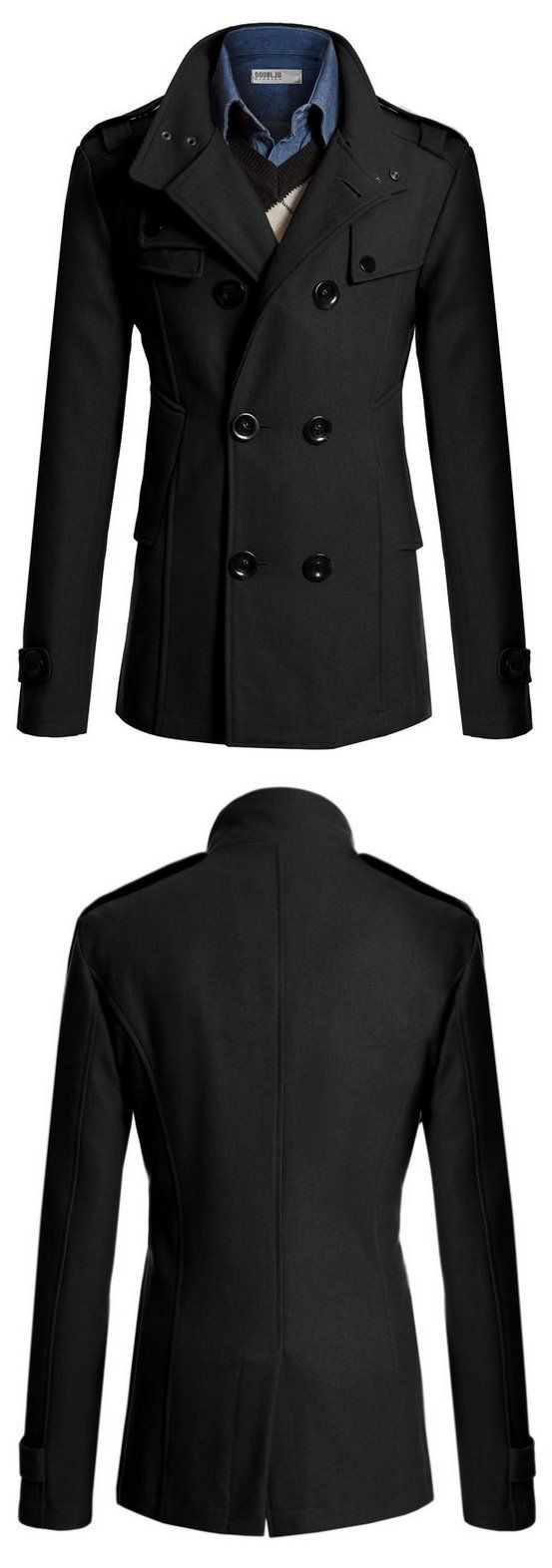 #Doublju Mens Wool Slim Double Breasted Half Trench Coat ⭐⭐⭐⭐ 785 customer reviews. This classic peacoat will ensure your slim fit style during winter season. https://twitter.com/TheMarketer2015/status/670183117827776512